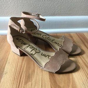 Nude Sam Edelman scalloped Sandals size 7